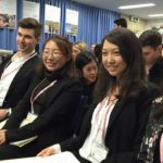 Wenjie Wu and students on Kakehashi Project in Japan