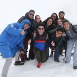 Our students on top of Baekdu Mountain