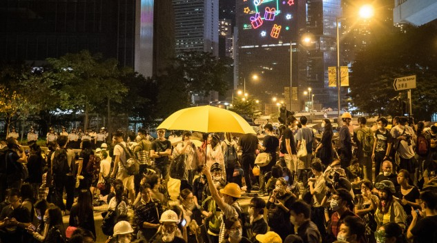 """Hong Kong Umbrella Revolution"" photo by Katie Brinn"