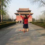 Katy Wang at the Ming Tombs in Beijing