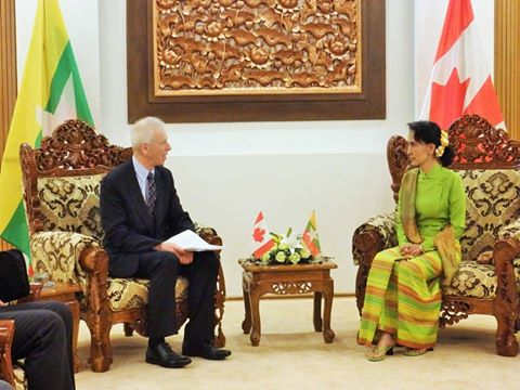 Bilateral meeting of Canadian Foreign Minister Stephane Dion with Burma`s Foreign Minister Aung San Suu Kyi