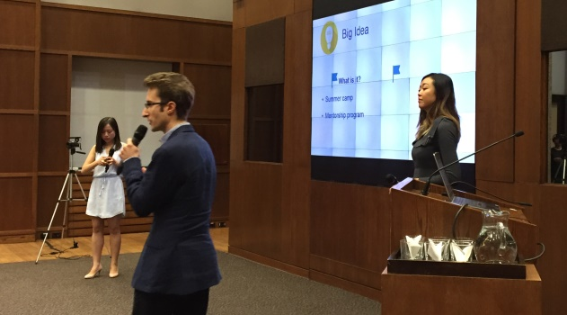 students pitch their Big Ideas for the Asian Institute's Richard Charles Lee Big Ideas Competition