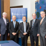 Munk School. U of T, and Japanese Government representatives on the occasion of Japan announcement