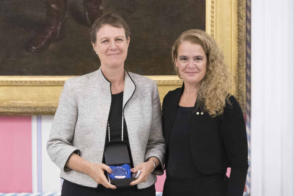 Professor Tania Li with Her Excellency the Right Honourable Julie Payette