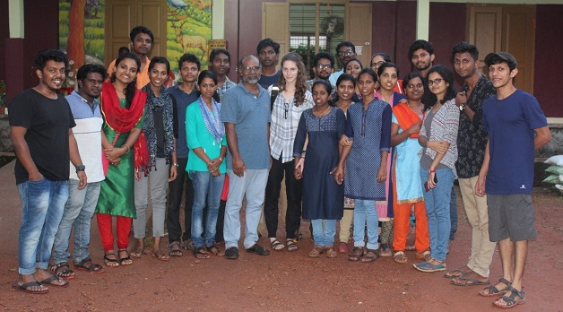 U of T interns with CREST students in Kerala