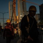 Construction workers in Shenzen, China, last year. Bryan Denton for The New York Times
