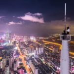 An image of the Guangzhou skyline at night.