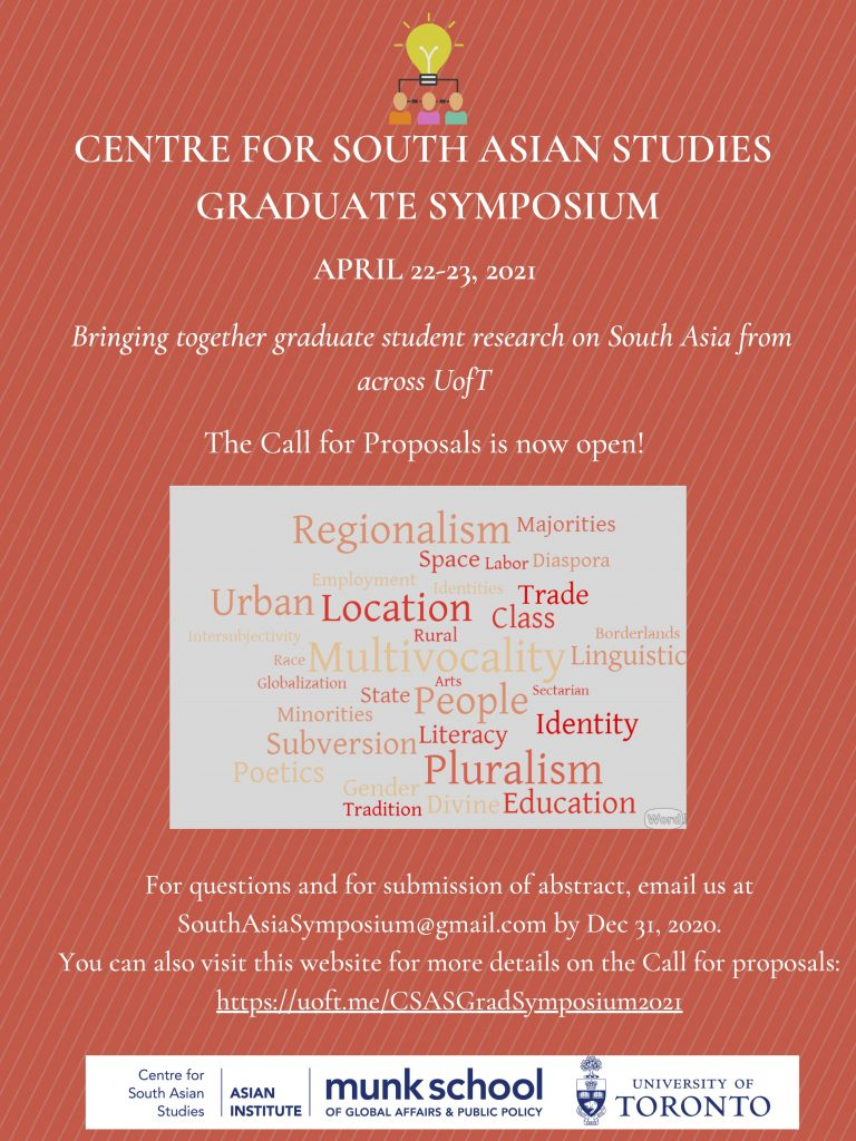 image of poster for CSAS symposium. All details are on the page below.