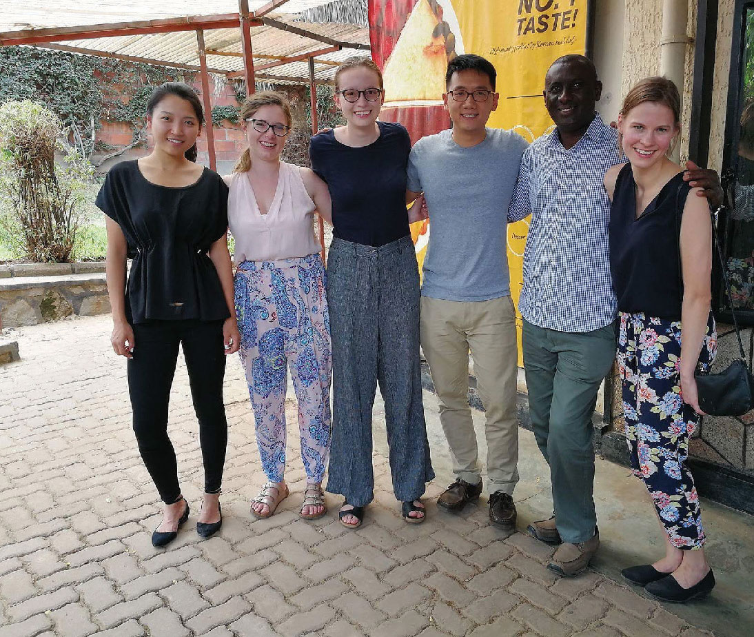 Kirstyn Koswin, and a group of student researchers in Rwanda.
