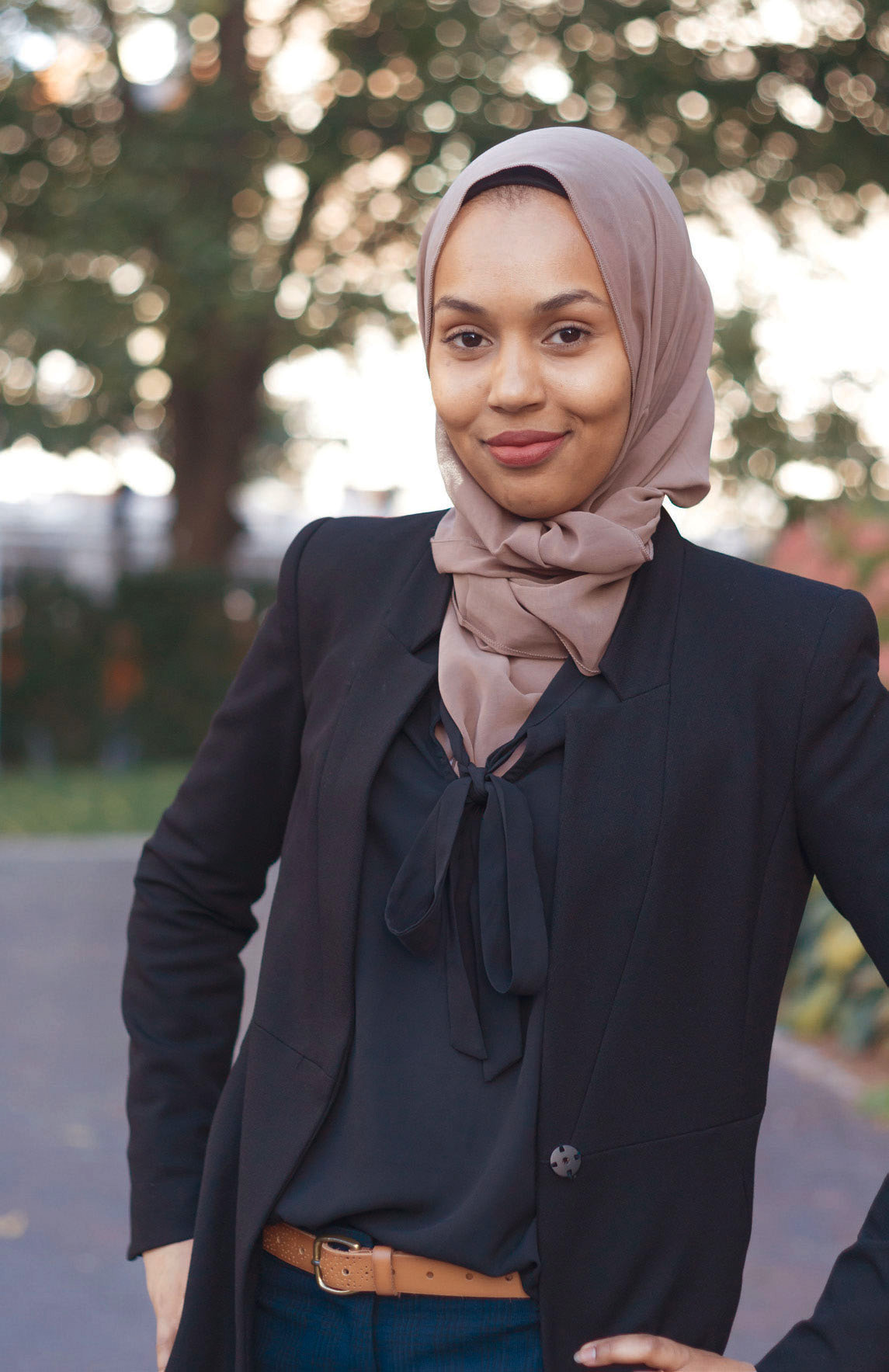 First-year MGA student Khadija Ahmed.