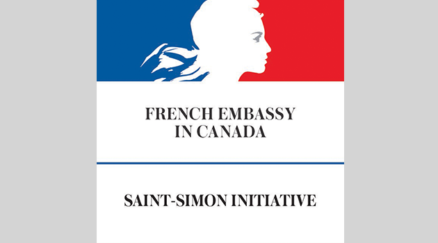 "Photo of the French Embassy Logo with text reading: ""French Embassy in Canada 