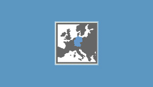 JIGES Map of europe - Germany highlighted in blue