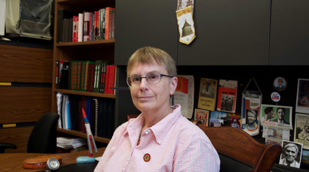 Professor Lynne Viola in her office
