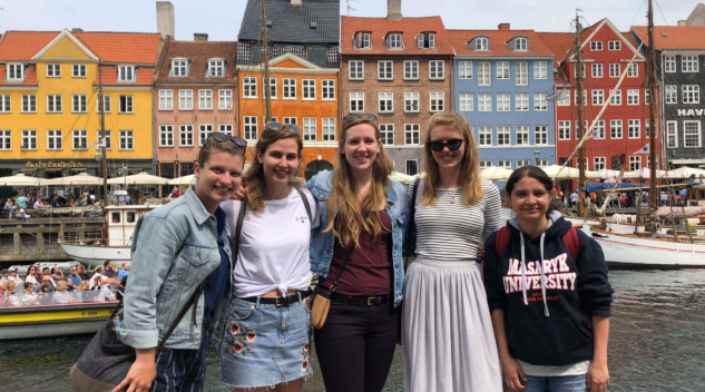 CERES students pose in Copenhagen