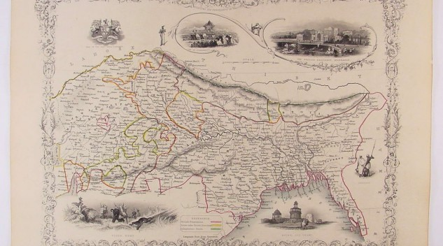A map of Northern India.
