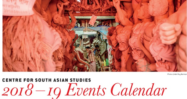 Centre for South Asian Studies 2018-19 Events Calendar