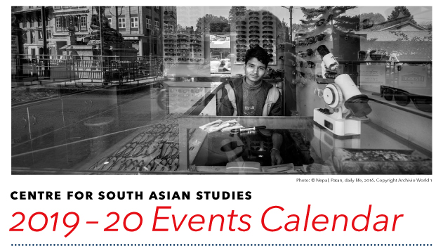 Centre for South Asian Studies 2019-20 Events Calendar