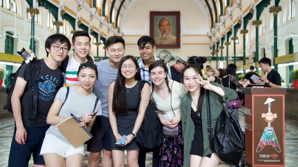 students in Vietnam for CAS international course module