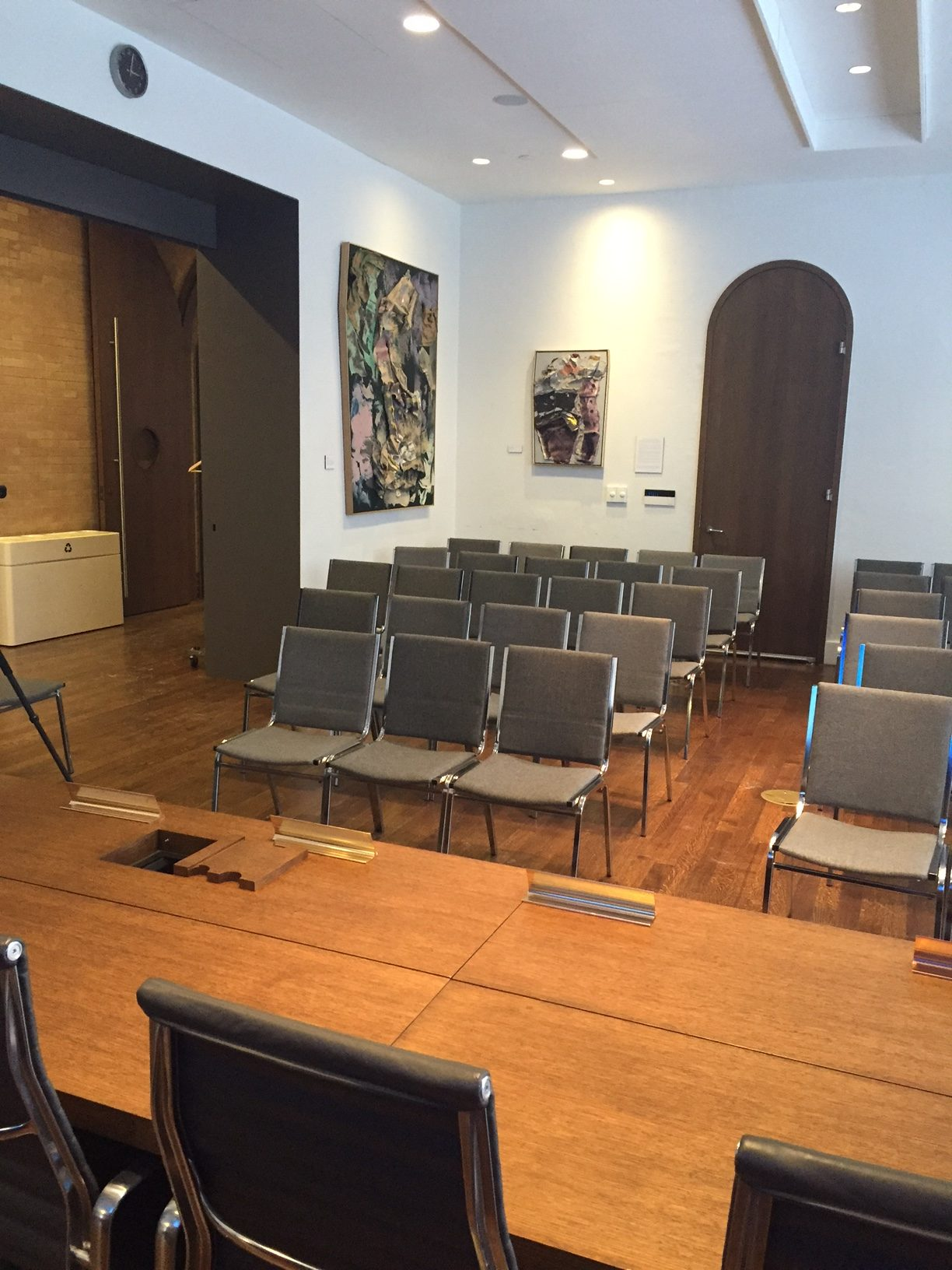 Theatre-style seating at The Boardroom location at 315 Bloor Street West