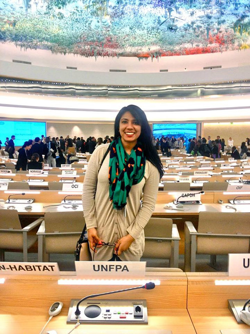 MGA Student Seher Shafiq on her internship at UNFPA United Nations Population Fund in Geneva.