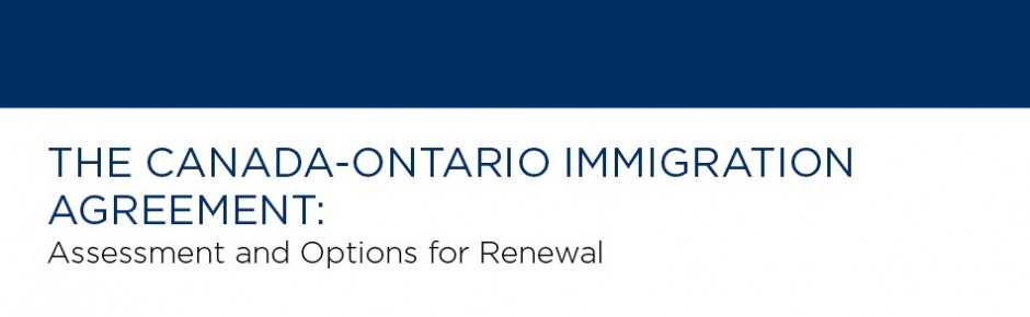 The Canada-Ontario Immigration Agreement