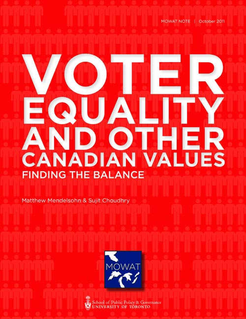 voter equality and other canadian