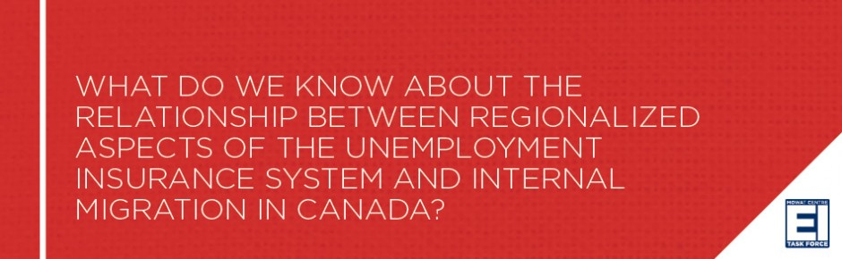 What do we know about the relationship between regionalized aspects of the unemployment insurance system and internal migration in Canada?