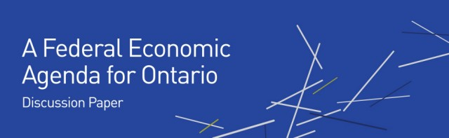 A Federal Economic Agenda for Ontario