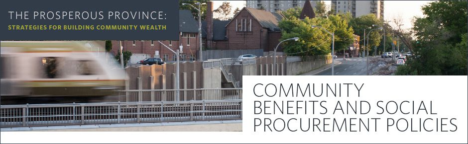 Community Benefits and Social Procurement Policies