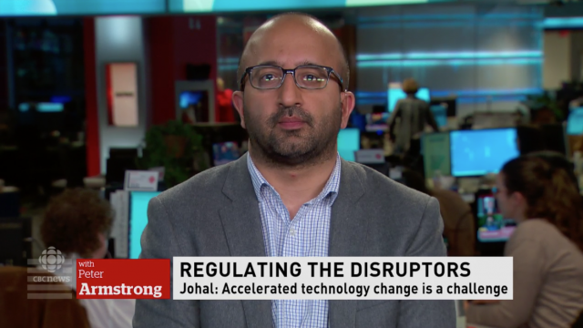 Video: Sunil Johal on CBC TV's On the Money discussing Mowat Regulating Disruption paper