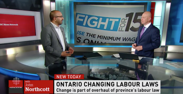 Ontario to raise minimum wage to $15 by 2019