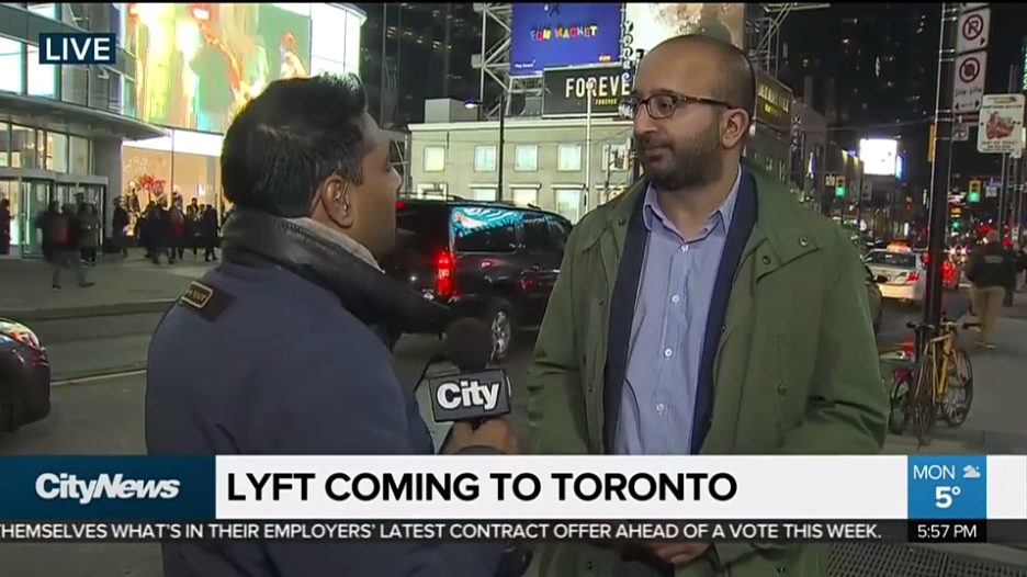 Sunil Johal chats with CityNews about Lyft expanding to Toronto market