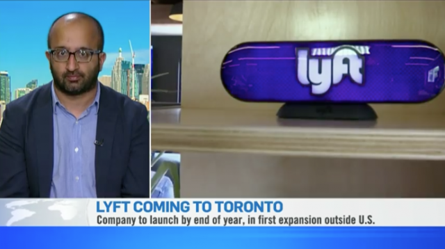 Lyft ride-sharing service expanding to Toronto