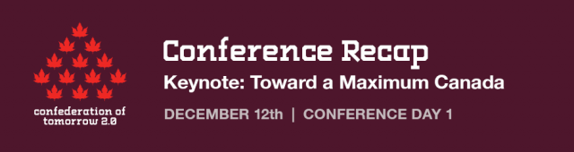 CoT Conference Recap: Day 1 – Keynote: Toward a Maximum Canada; The Challenge of Preparing for Population Growth
