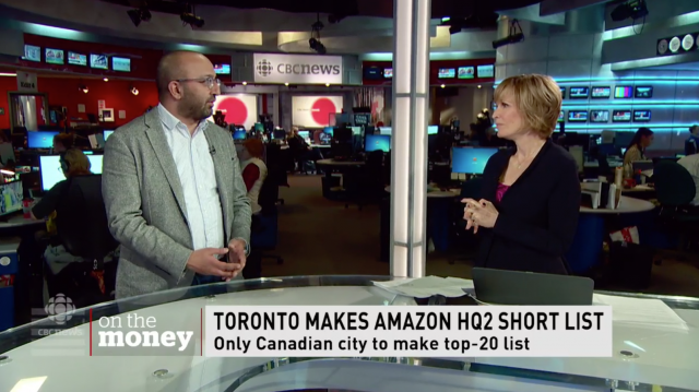 Toronto makes Amazon HQ2 short list