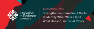 Innovation in Evidence: Conference Background Paper
