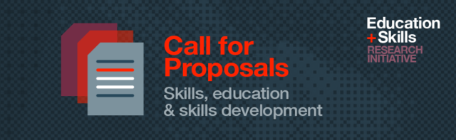 Call for Proposals: Skills, education & skills development