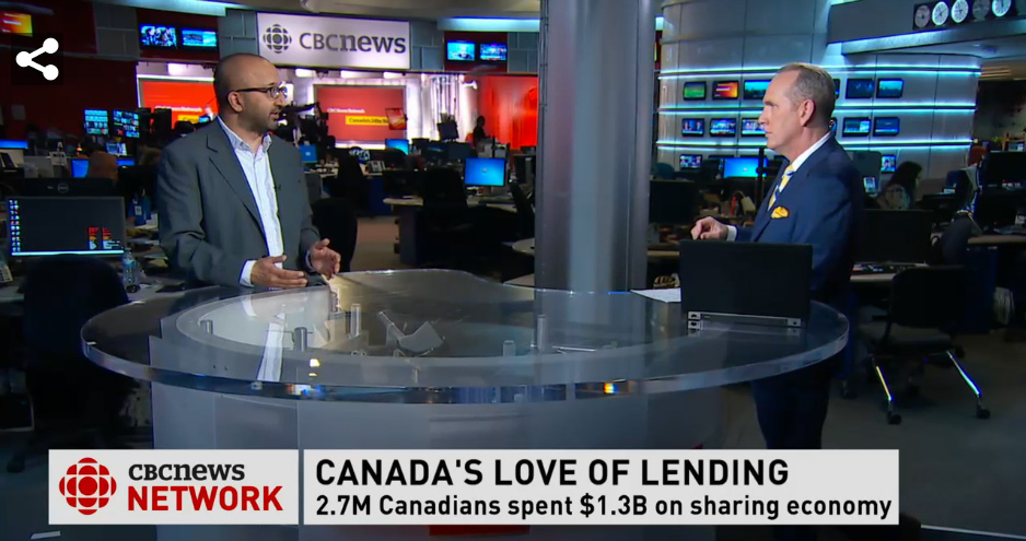 Video: Canada's Sharing Economy on CBC's On the Money