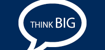 "Speech Bubble ""THINK BIG"""