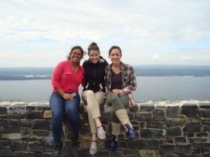 Photo of Apurva, Kerry and Nicoli in Northern Ireland
