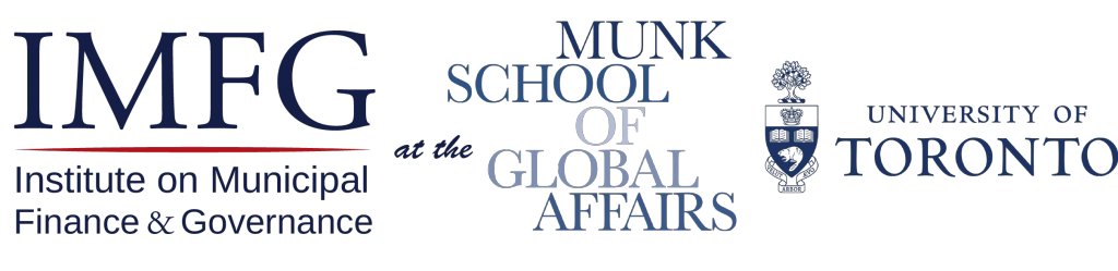 Logo reads: IMFG at the Munk School of Global Affairs, University of Toronto