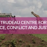 Trudeau Centre for PCJ banner on photo of African Safari