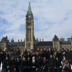 Women in House Participants in front of Parliament Hill