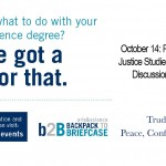 U of T Backpack to Briefcase PCJ Event Poster