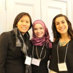 Professor Wendy Wong with PCJ Students Bushra and Jahaan