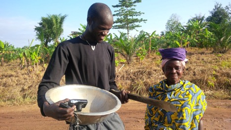 James with Ghanian Farmer