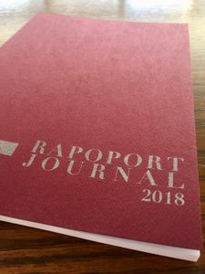 Photo of the cover of the 2018 Rapoport Journal of PCJ