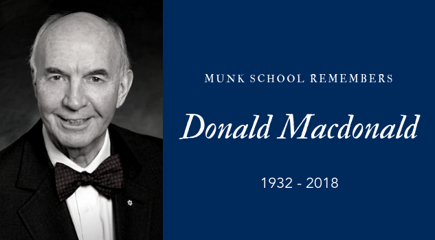 The Honourable Donald Macdonald, 1932-2018