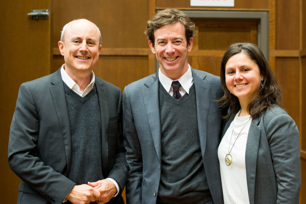 Michael Ross (left) with Michael Roland (centre) and Paola Salardi (right)