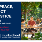 Study Peace, Conflict and Justice. Now accepting applications for Fall 2020. Applications open from March 2 - April 30.